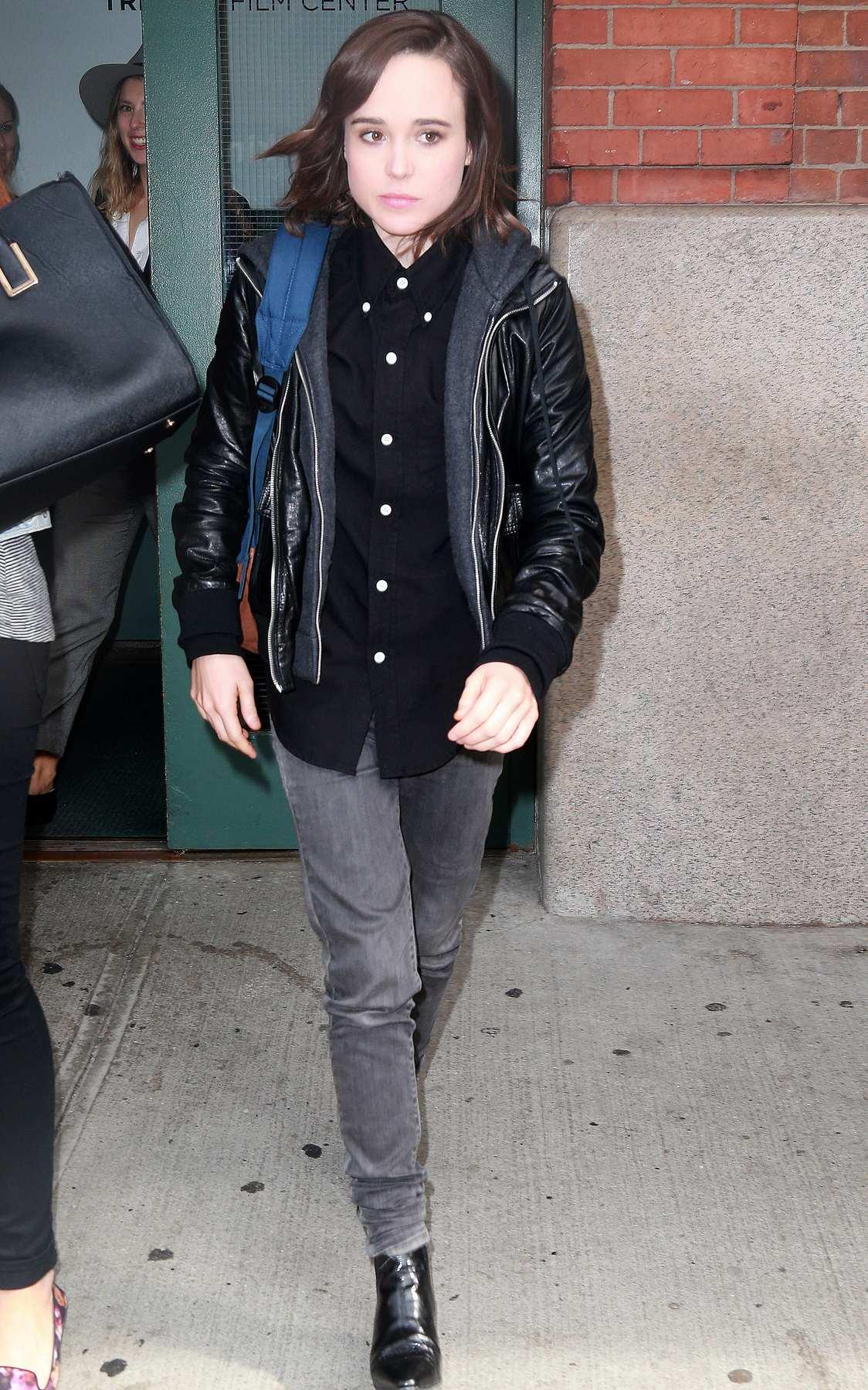 Ellen Page Leaving Tribeca Film Center-1
