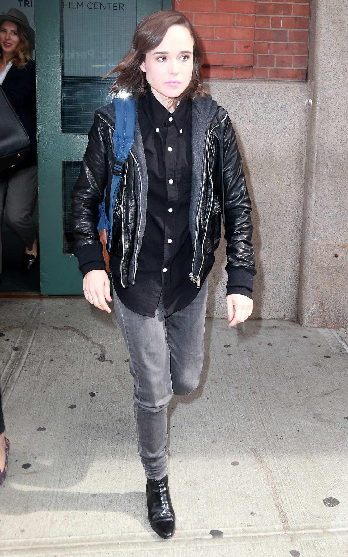 Ellen Page Leaving Tribeca Film Center-2