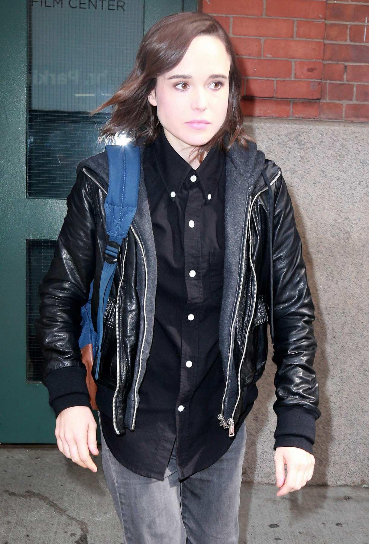 Ellen Page Leaving Tribeca Film Center-3