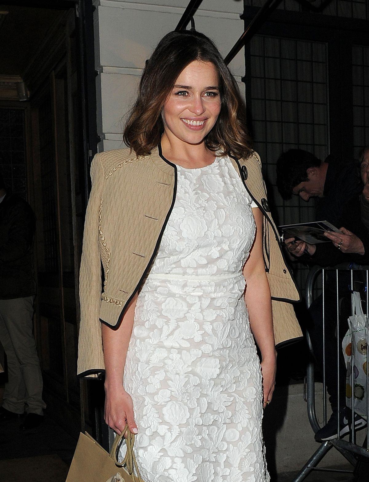 Emilia Clarke arrives at Weintein Grey Goose Pre Bafta Dinner in London-1