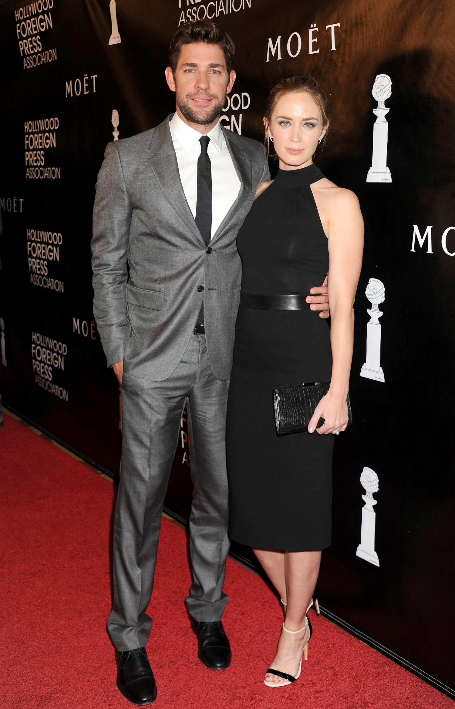 Emily Blunt and husband John Krasinski at HFPA Grants Banquet-2