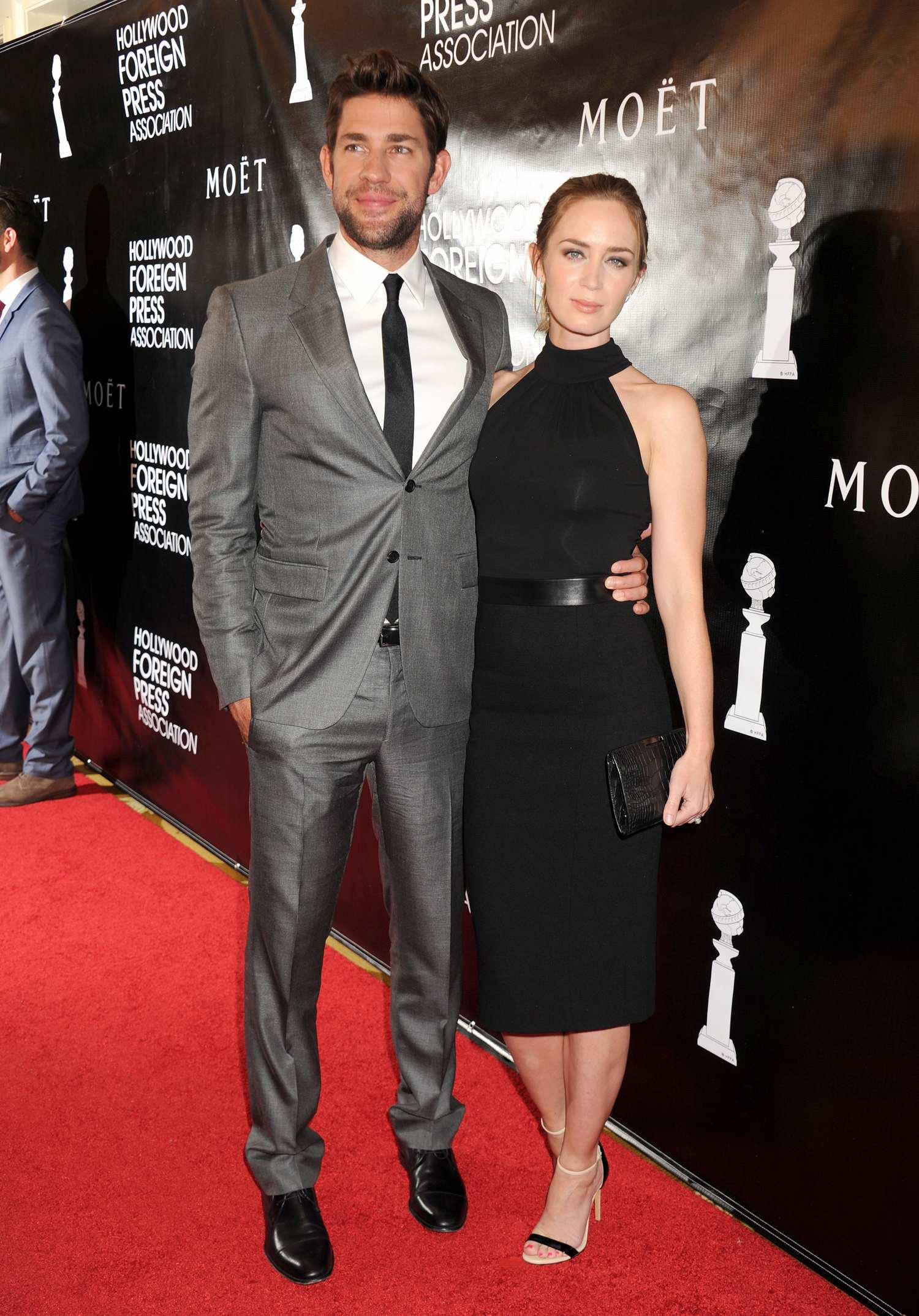 Emily Blunt and husband John Krasinski at HFPA Grants Banquet-3