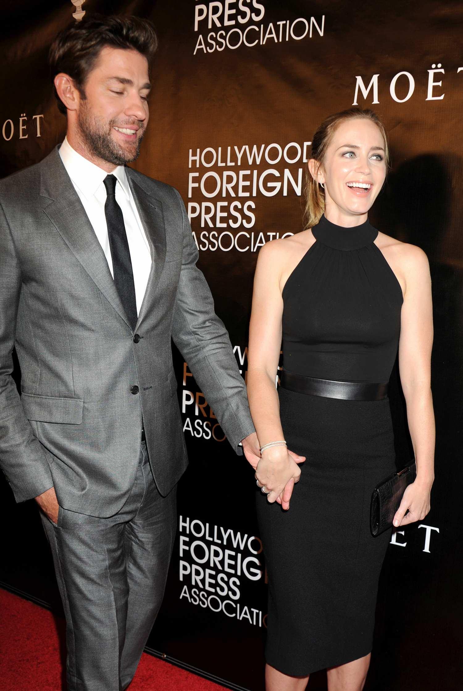 Emily Blunt and husband John Krasinski at HFPA Grants Banquet-4