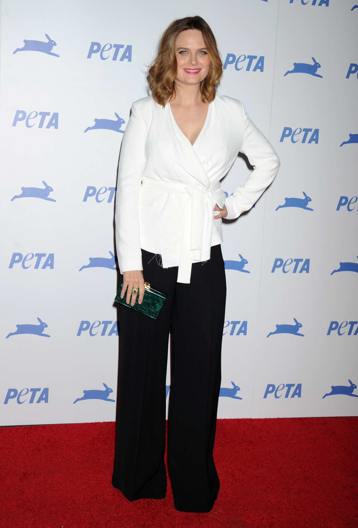 Emily Deschanel at PETAs Anniversary Party-1