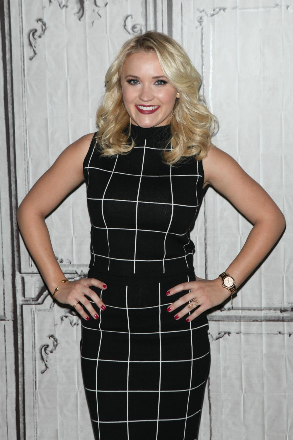 Emily Osment at Promotes Young and Hungry at AOL Build Speaker-1