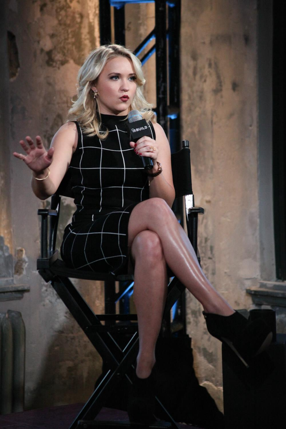 Emily Osment at Promotes Young and Hungry at AOL Build Speaker-3