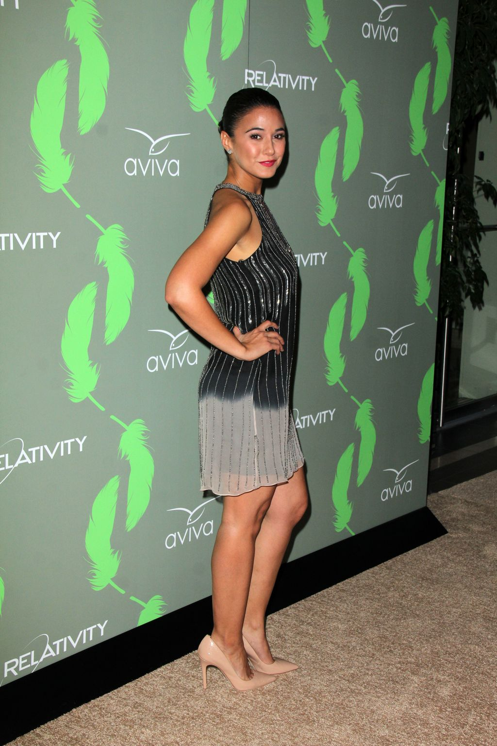 Emmanuelle Chriqui ate Aviva Family and Childrens Services Anniversary of The A Gala-1