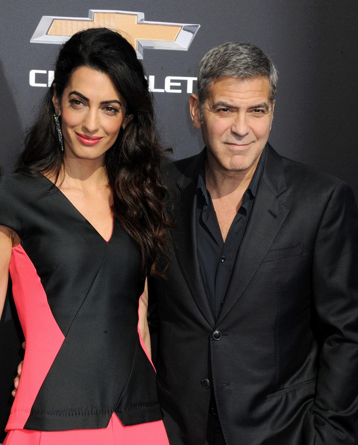 George Clooney and Amal Alamuddin at Tomorrowland Premiere-2