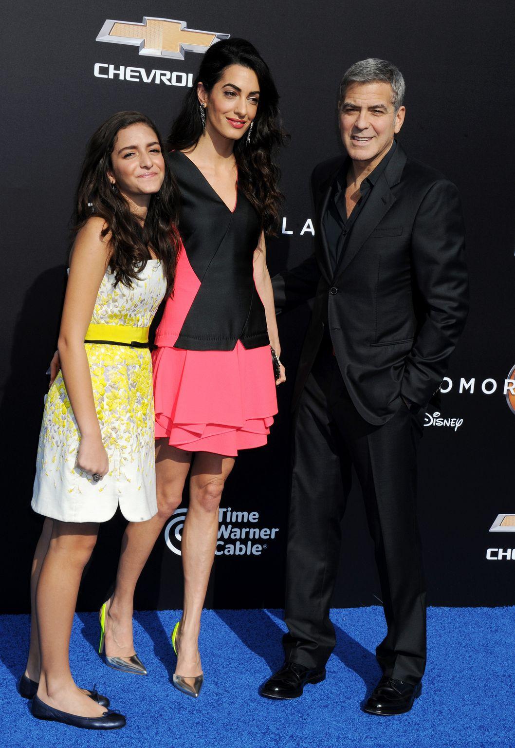George Clooney and Amal Alamuddin at Tomorrowland Premiere-4