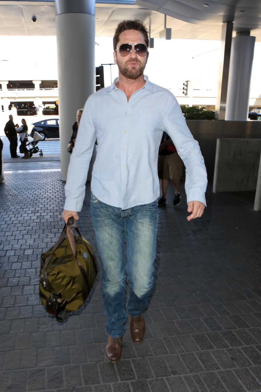 Gerard Butler arrives at LAX Airport