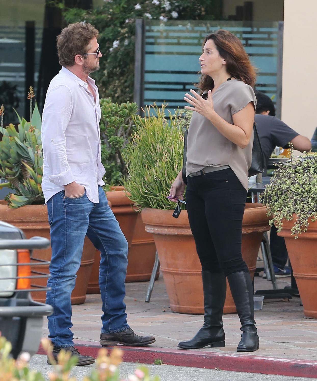 Gerard Butler Chills With A Female Friend in LA-4