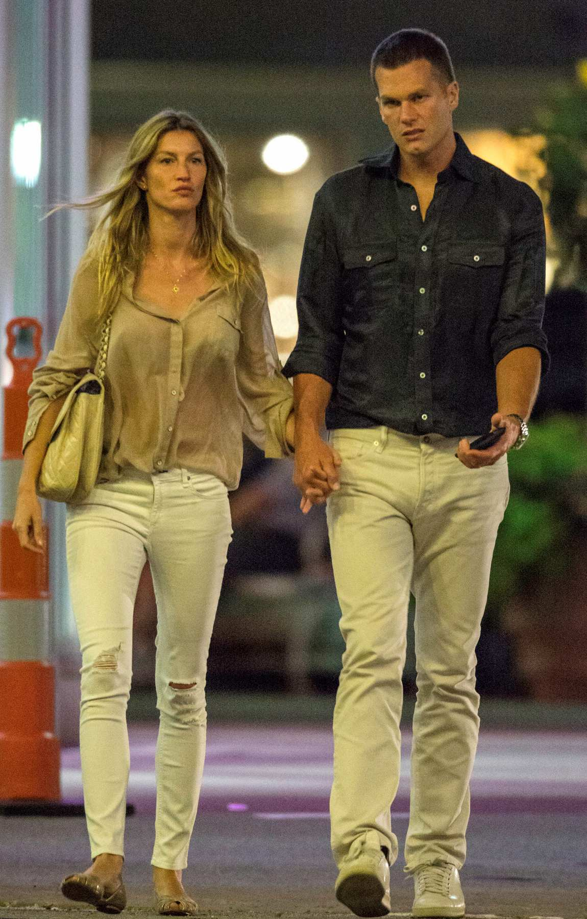 Gisele Bundchen and Tom Brady Hand in Hand Leaving Movie Theatre-1