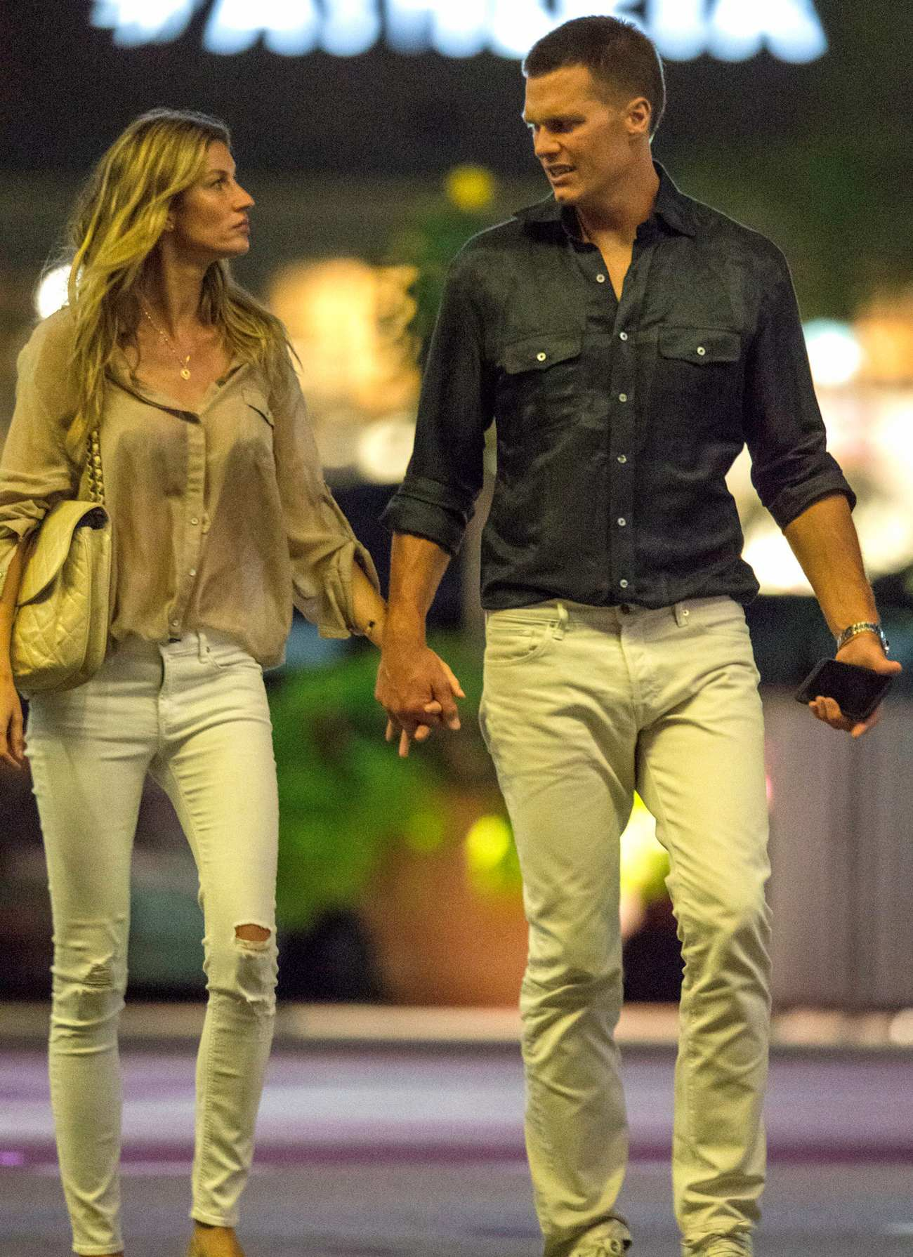 Gisele Bundchen and Tom Brady Hand in Hand Leaving Movie Theatre-3