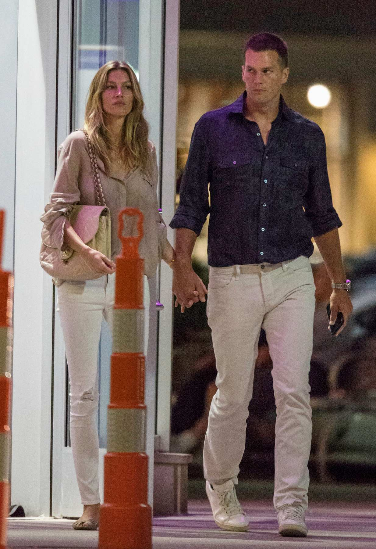 Gisele Bundchen and Tom Brady Hand in Hand Leaving Movie Theatre-4