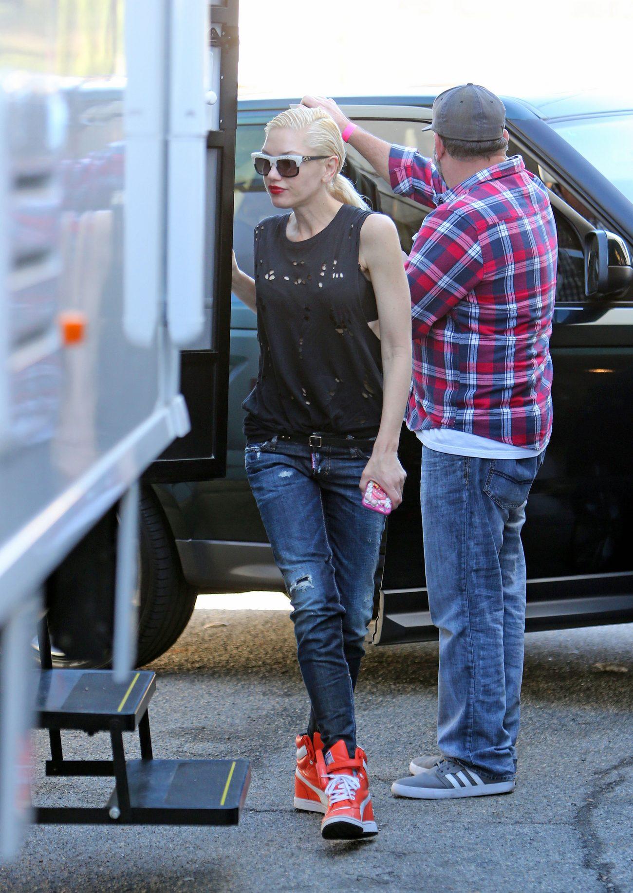 Gwen Stefani Arrives For A Photoshoot in LA-1