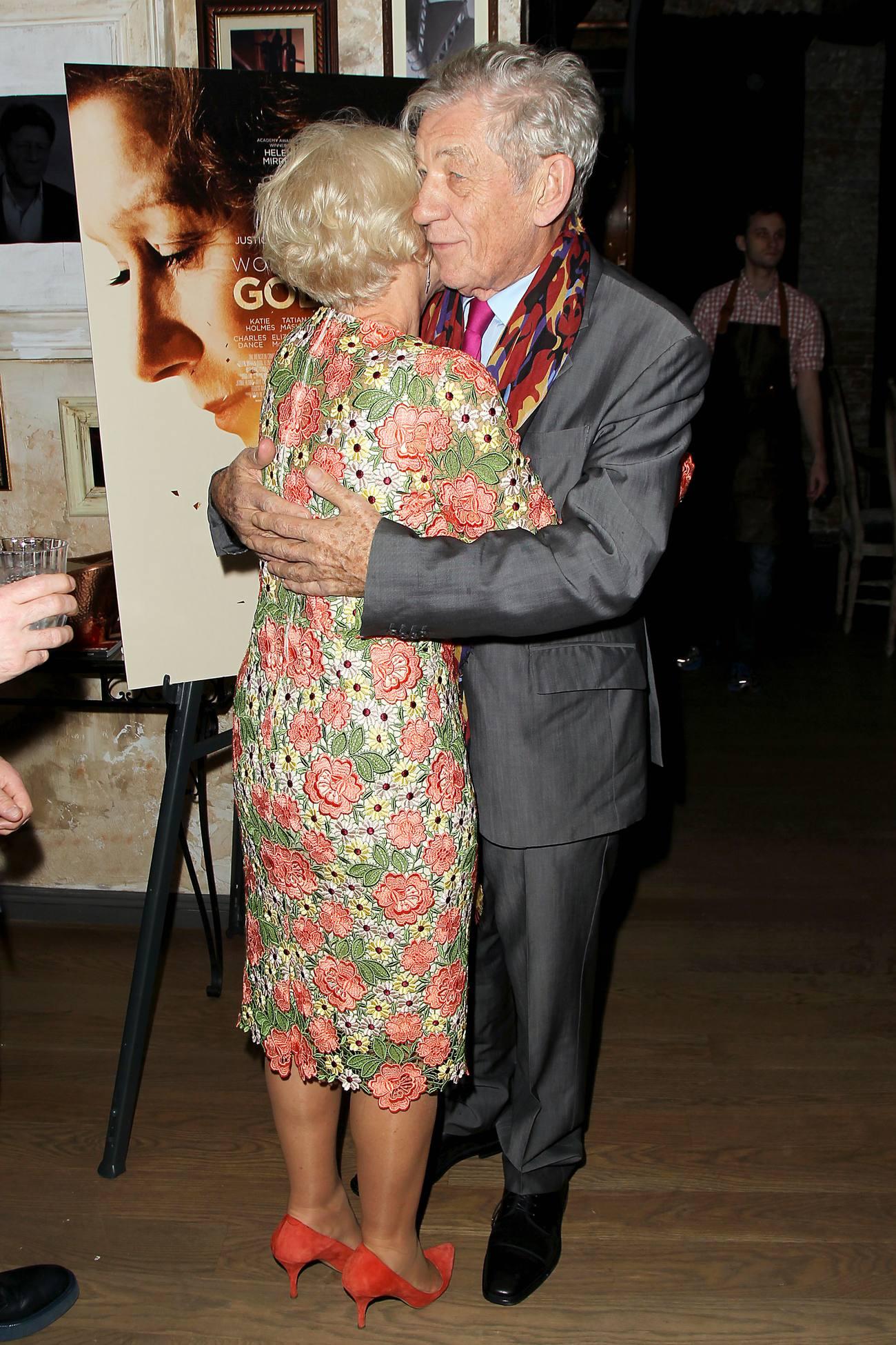 Helen Mirren and Sir Ian McKellen at Woman in Gold Reception-3