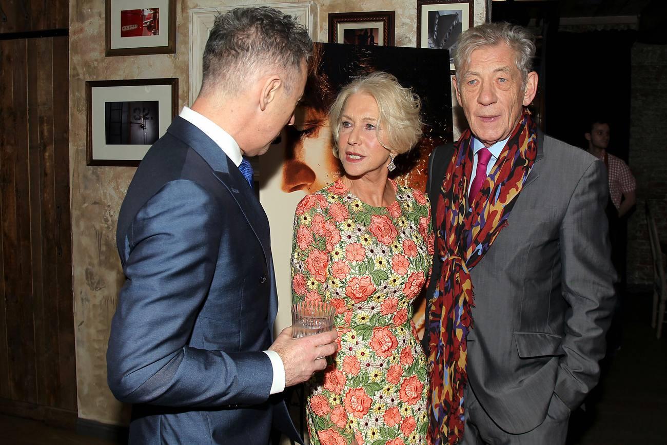 Helen Mirren and Sir Ian McKellen at Woman in Gold Reception-4