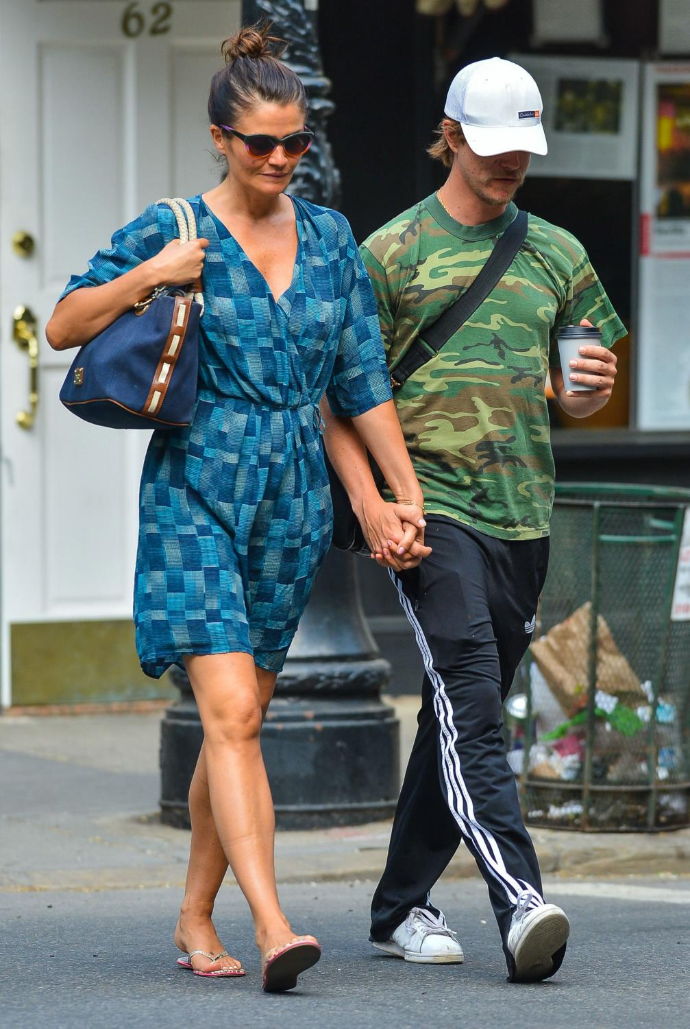 Helena Christensen and Paul Banks in NYC-2
