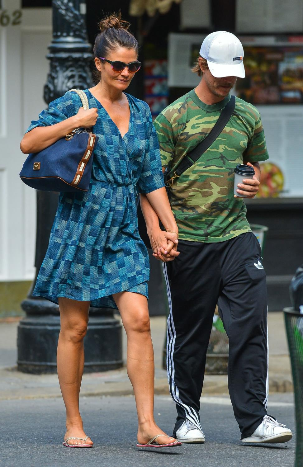 Helena Christensen and Paul Banks in NYC-3
