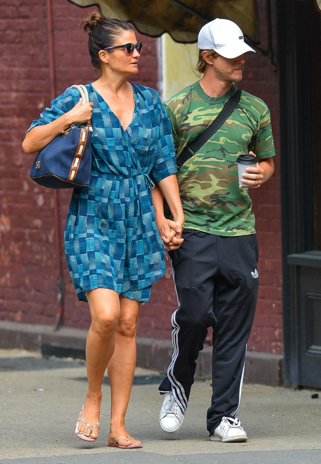Helena Christensen and Paul Banks in NYC-4