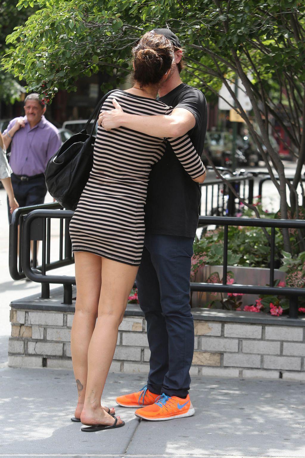 Helena Christensen and Paul Banks ine West Village-2