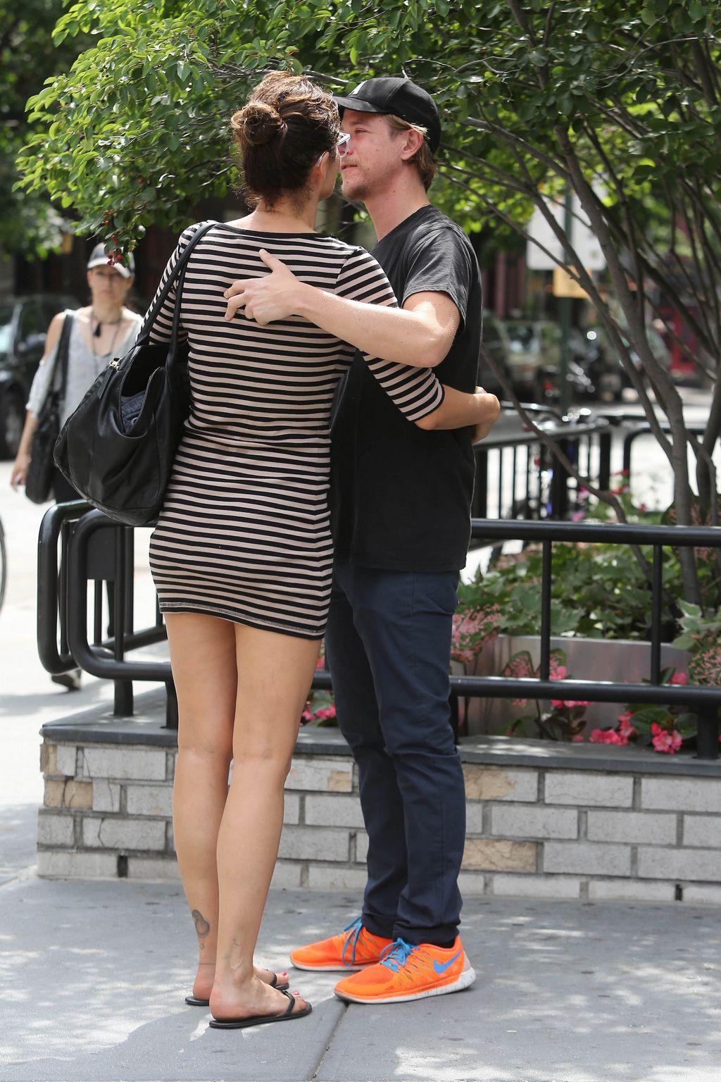 Helena Christensen and Paul Banks ine West Village-3