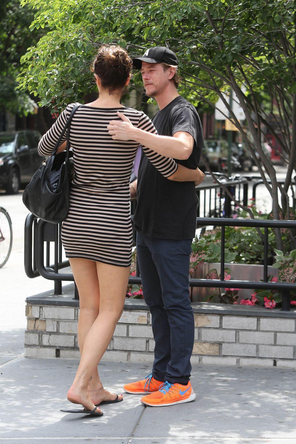 Helena Christensen and Paul Banks ine West Village-4
