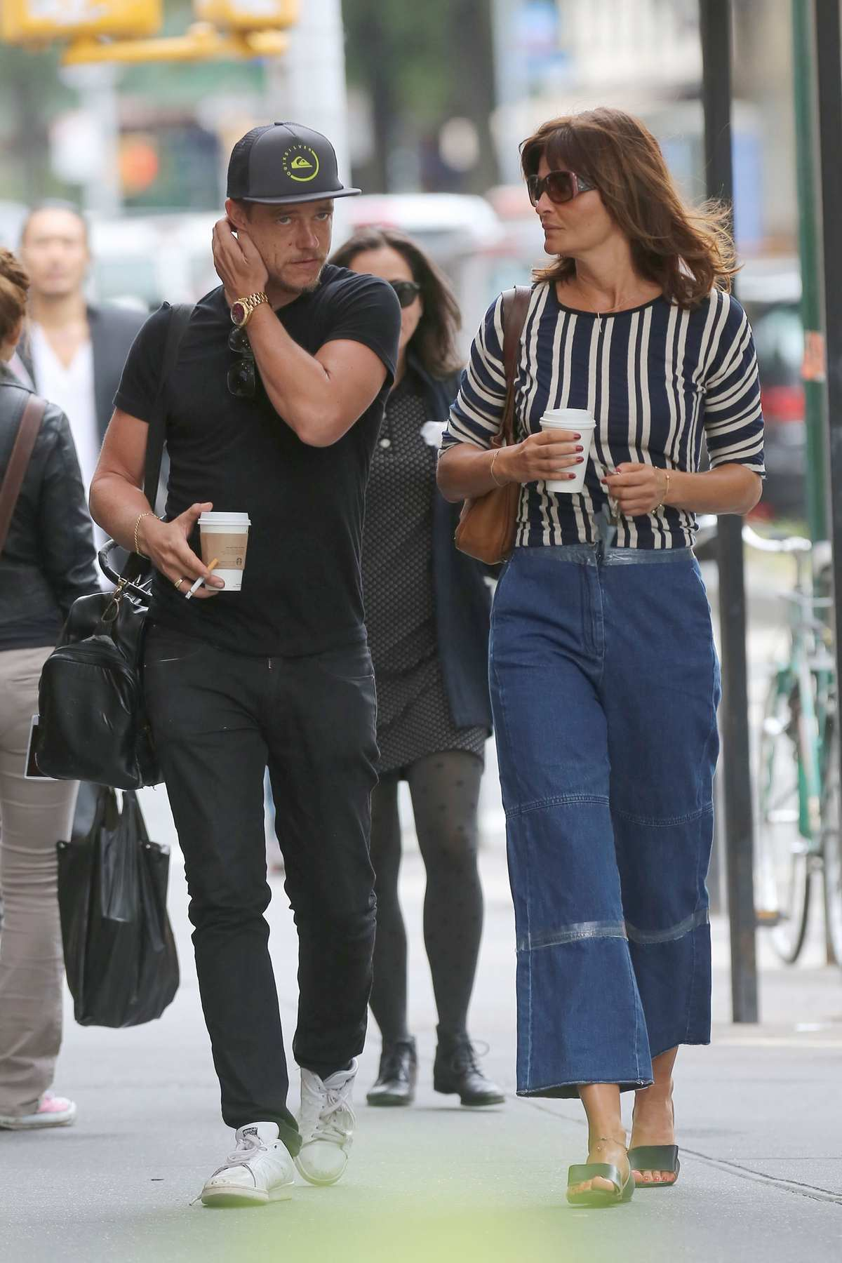Helena Christensen and Paul Banks in West Village-2