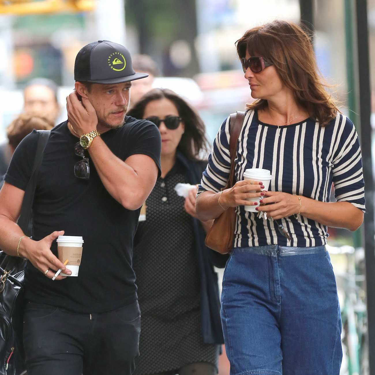 Helena Christensen and Paul Banks in West Village-3