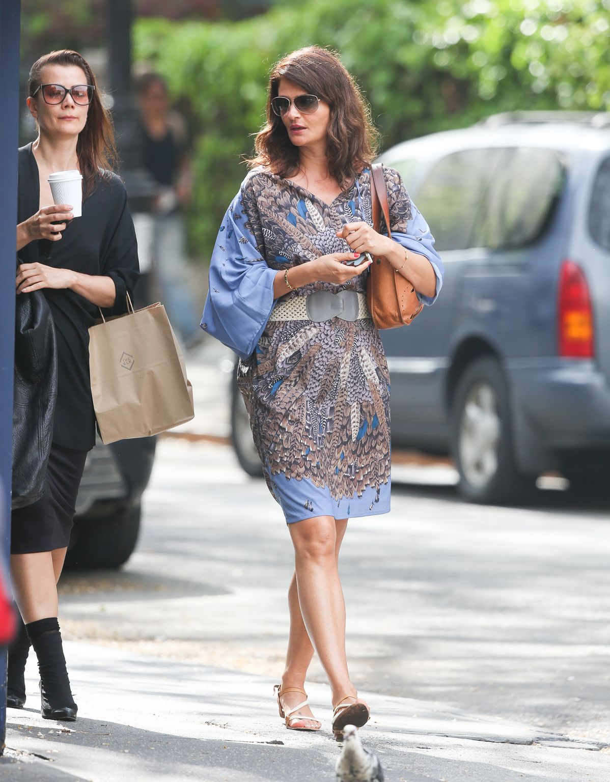 Helena Christensen in West Village