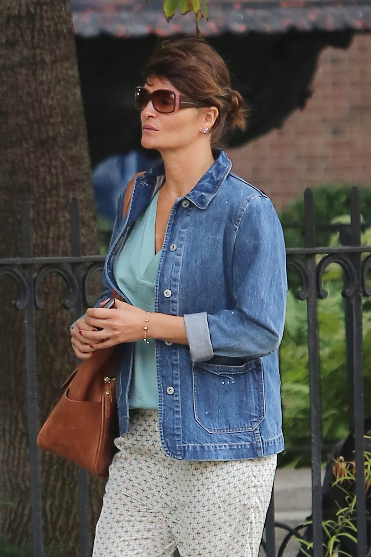 Helena Christensen Out in New York-4