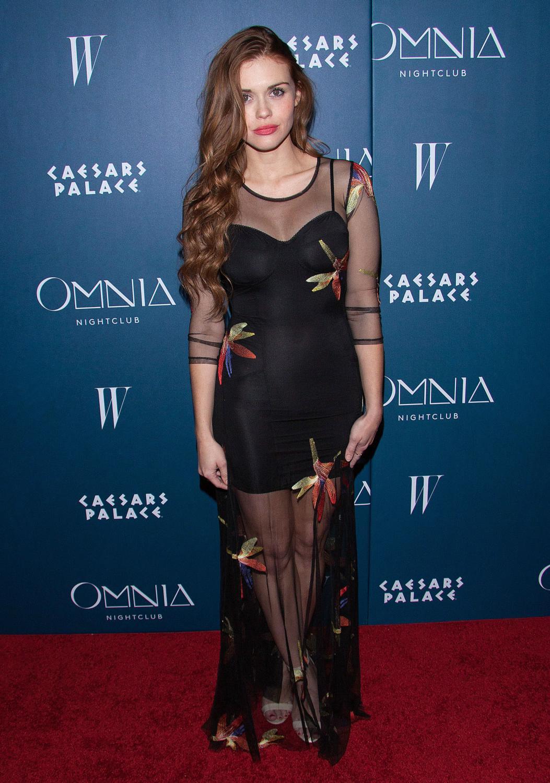 Holland Roden attendse grand opening weekend of Omnia Nightclub