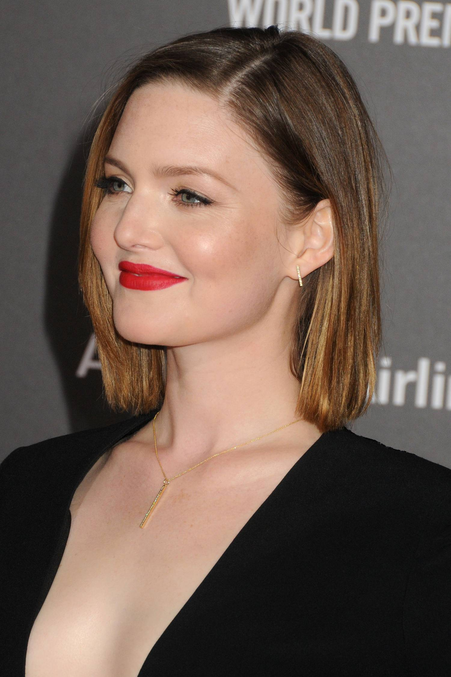 Holliday Grainger Poses with Eric Bana and Chris Pine at The Finest Hours Premiere