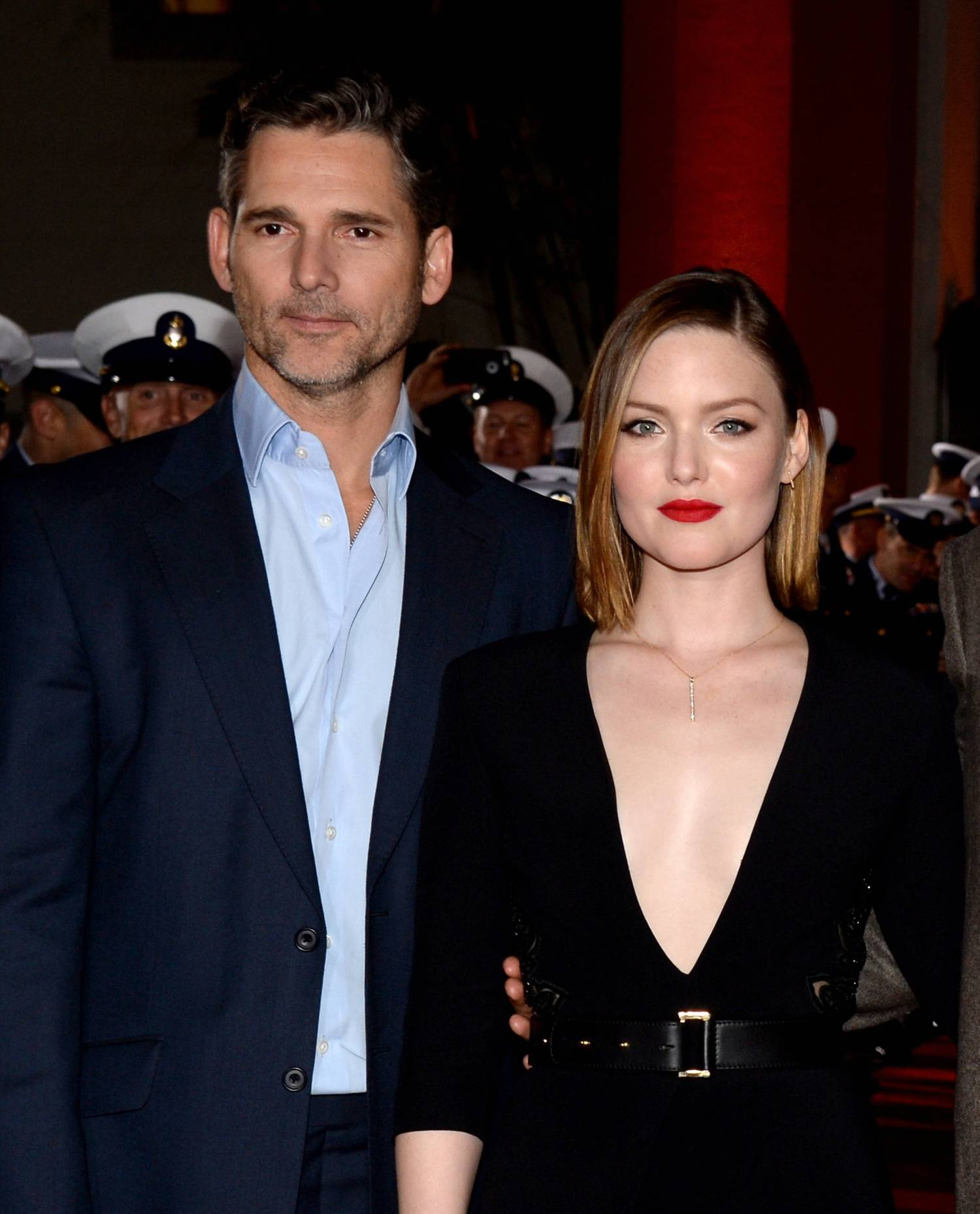 Holliday Grainger Poses with Eric Bana and Chris Pine at The Finest Hours Premiere-4