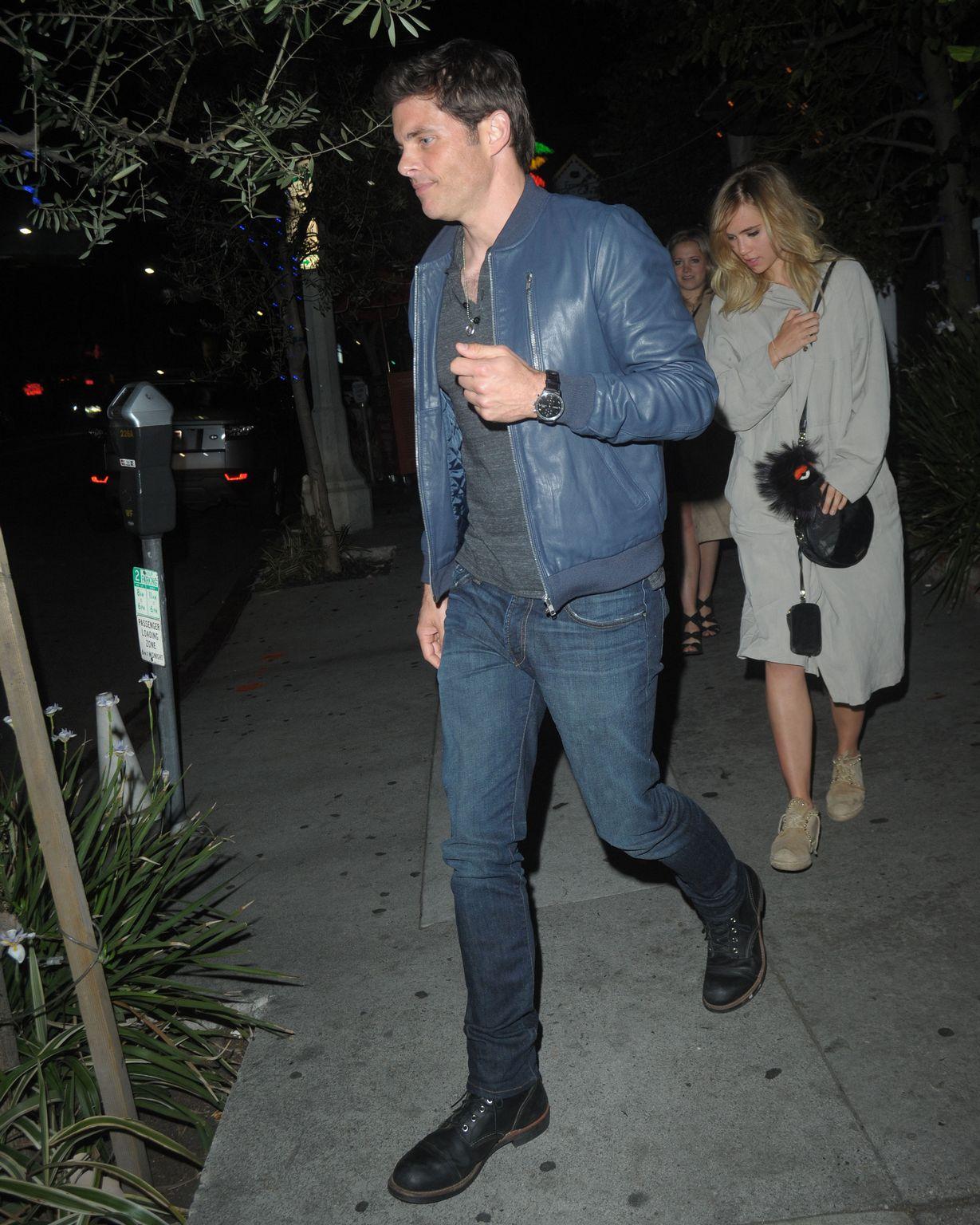 James Marsden and Suki Waterhouse at Little Door in Los Angeles