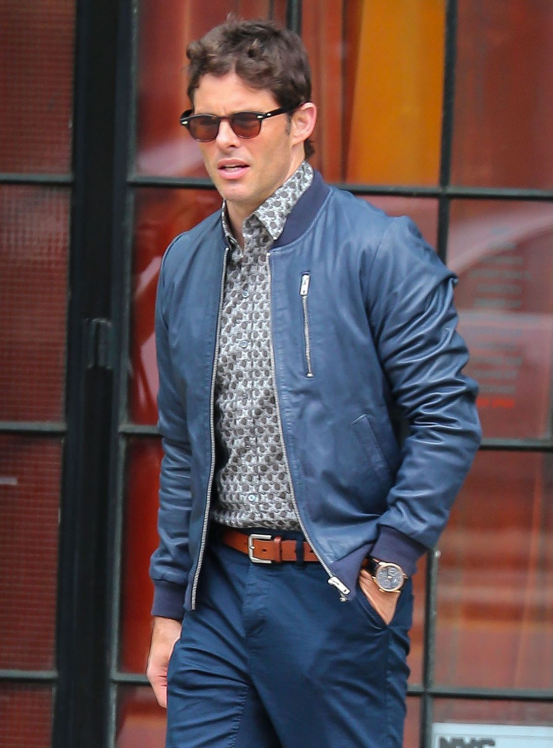 James Marsden Leaves The Bowery Hotel