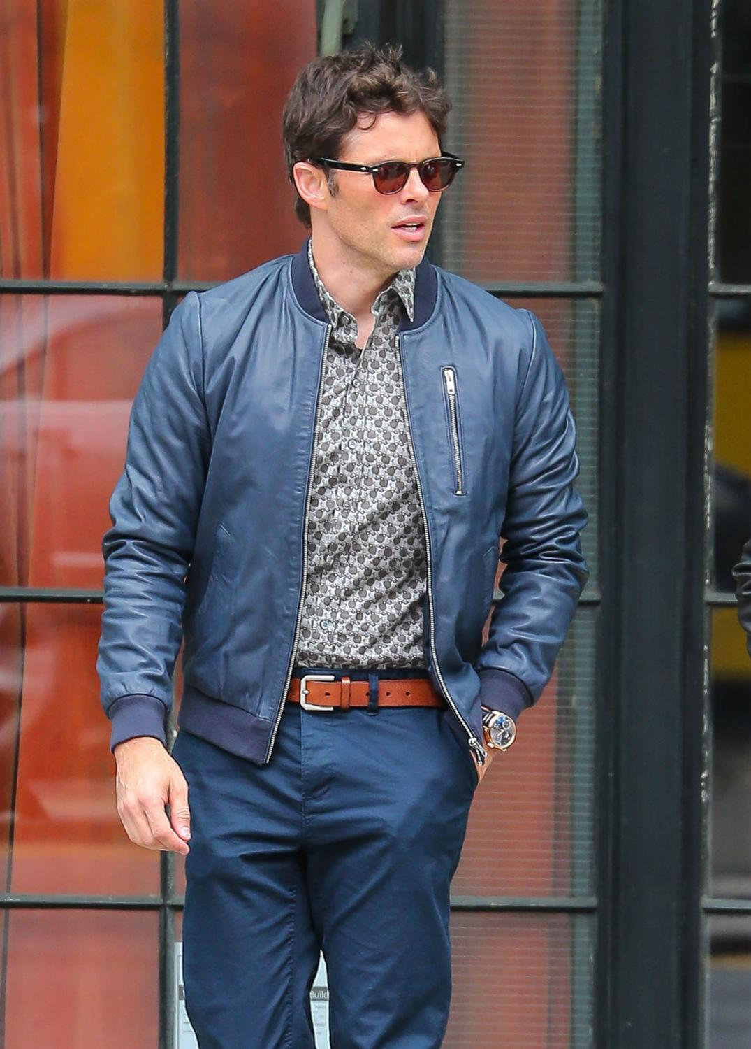 James Marsden Leaves The Bowery Hotel in NYC