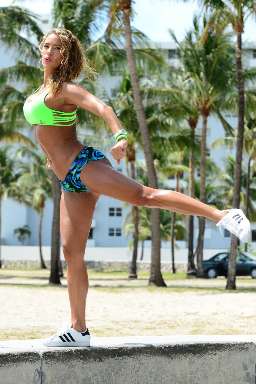 Jennifer Nicole Lee Having Fun at Beach