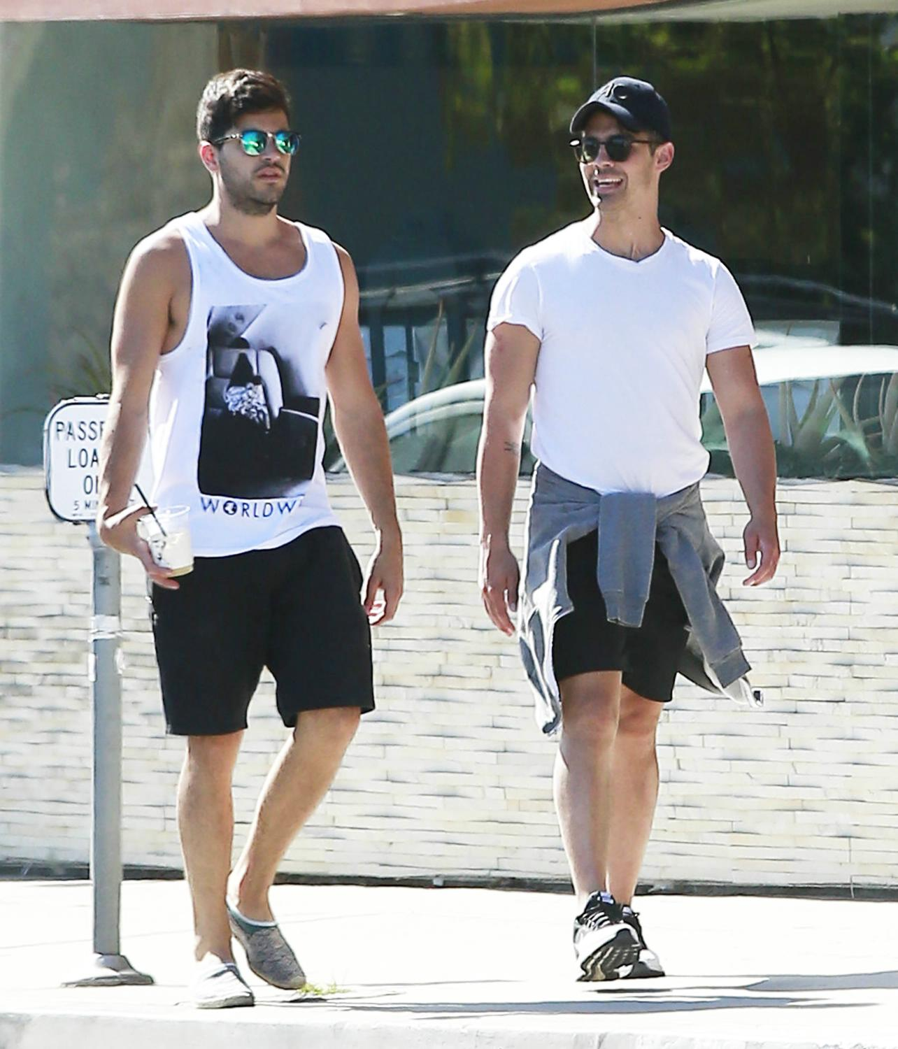 Joe Jonas Out in West Hollywood with a Friend-1