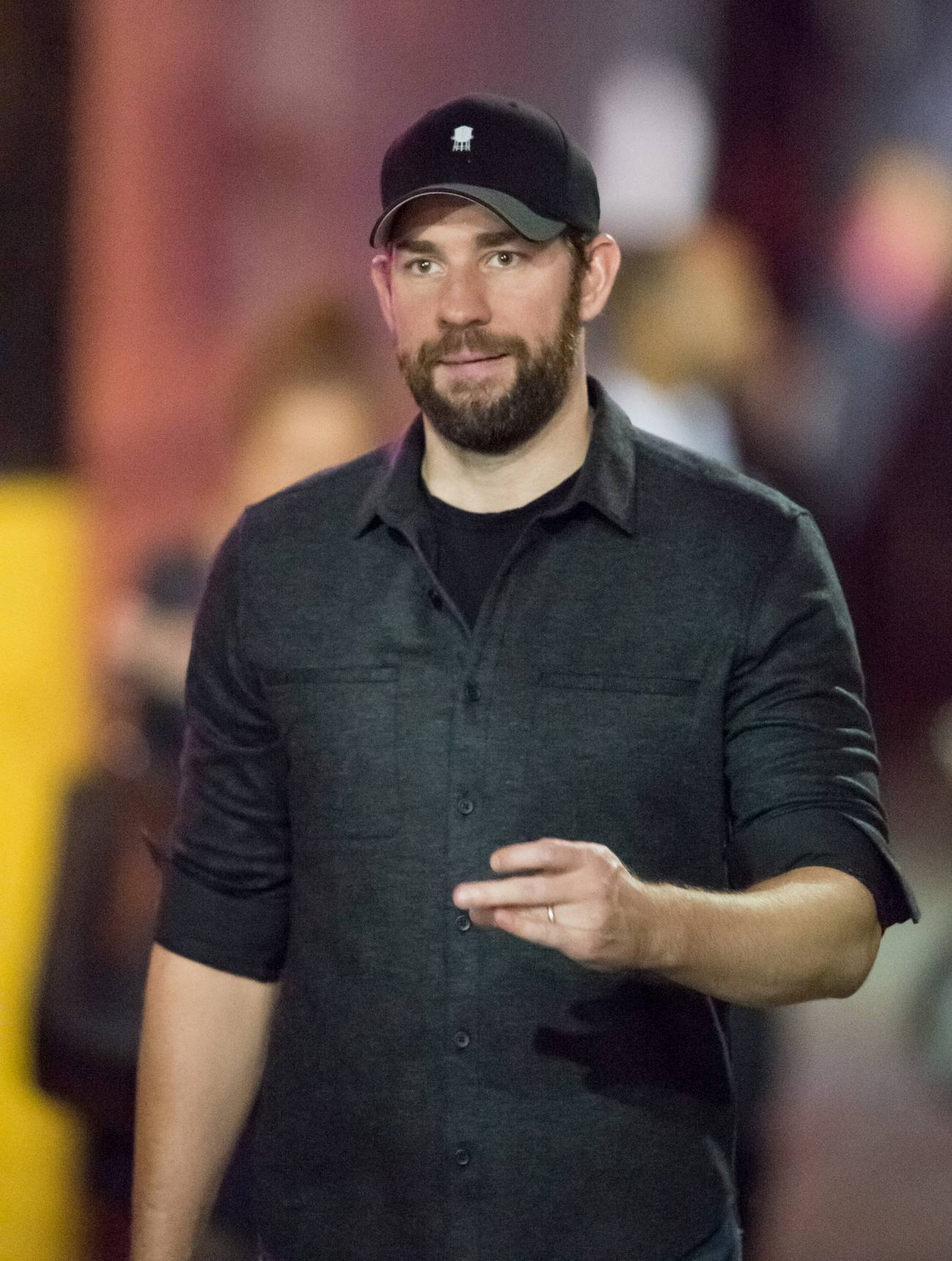 john krasinski is seen at jimmy kimmel live � celeb donut