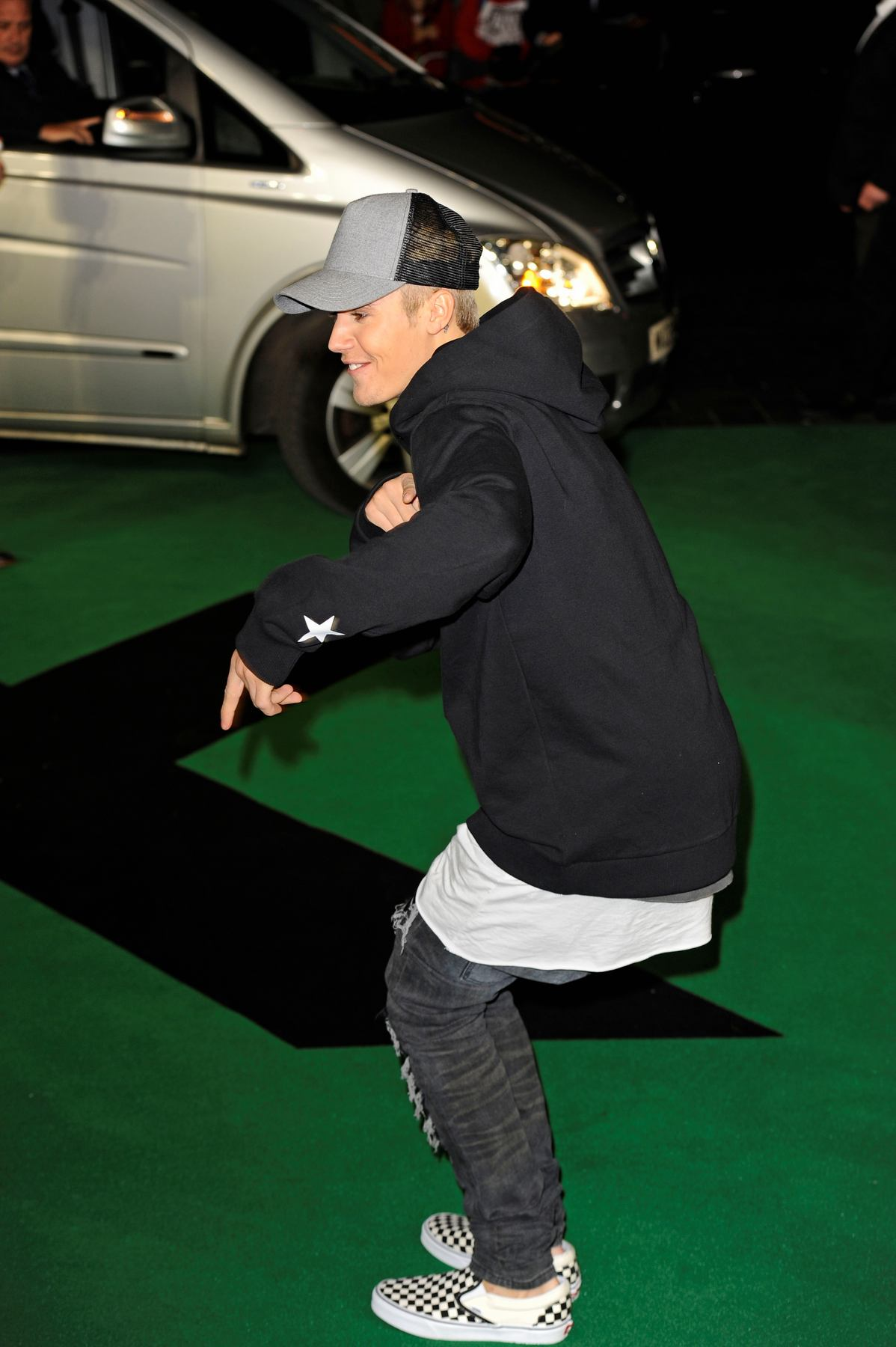 Justin Bieber at Ed Sheeran: Jumpers For Goalposts World Premiere-3