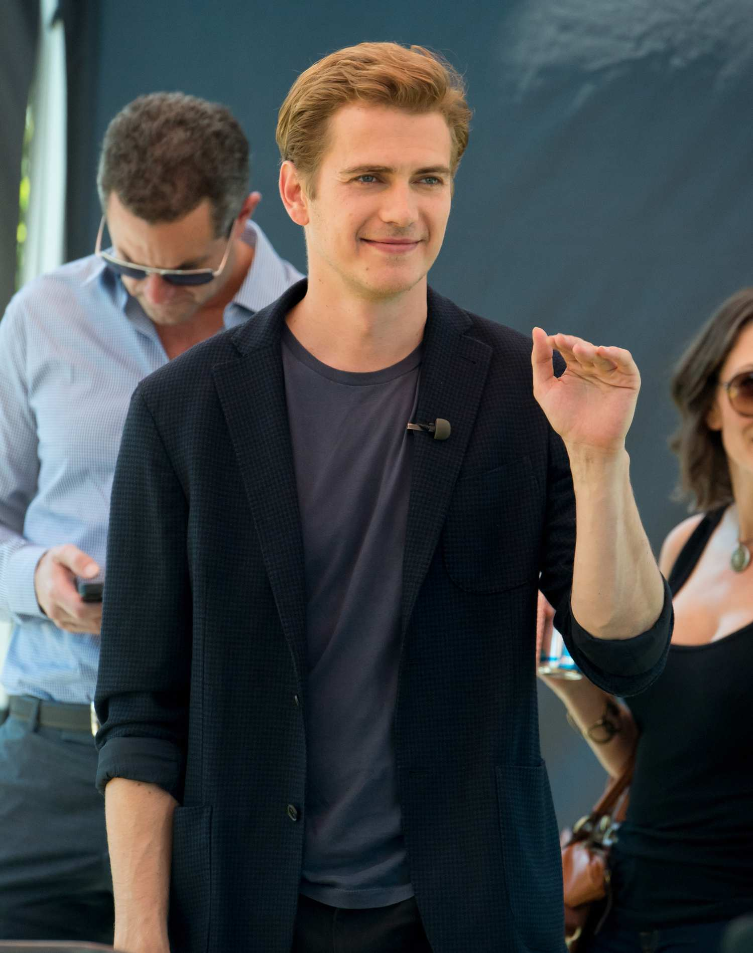 Kate Bosworth and Hayden Christensen On The Set of Extra