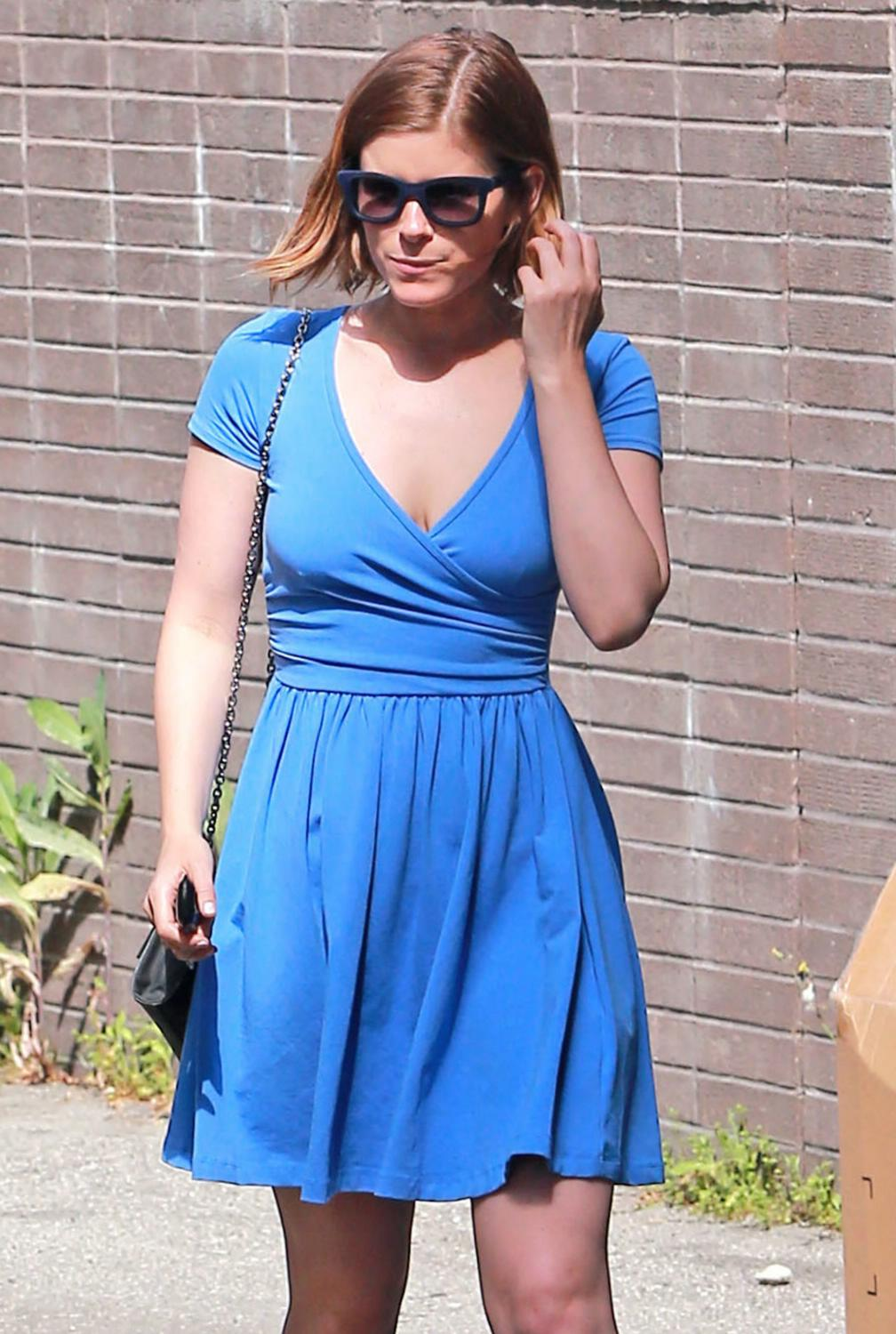 Kate Mara Leaving Hair Salon-1
