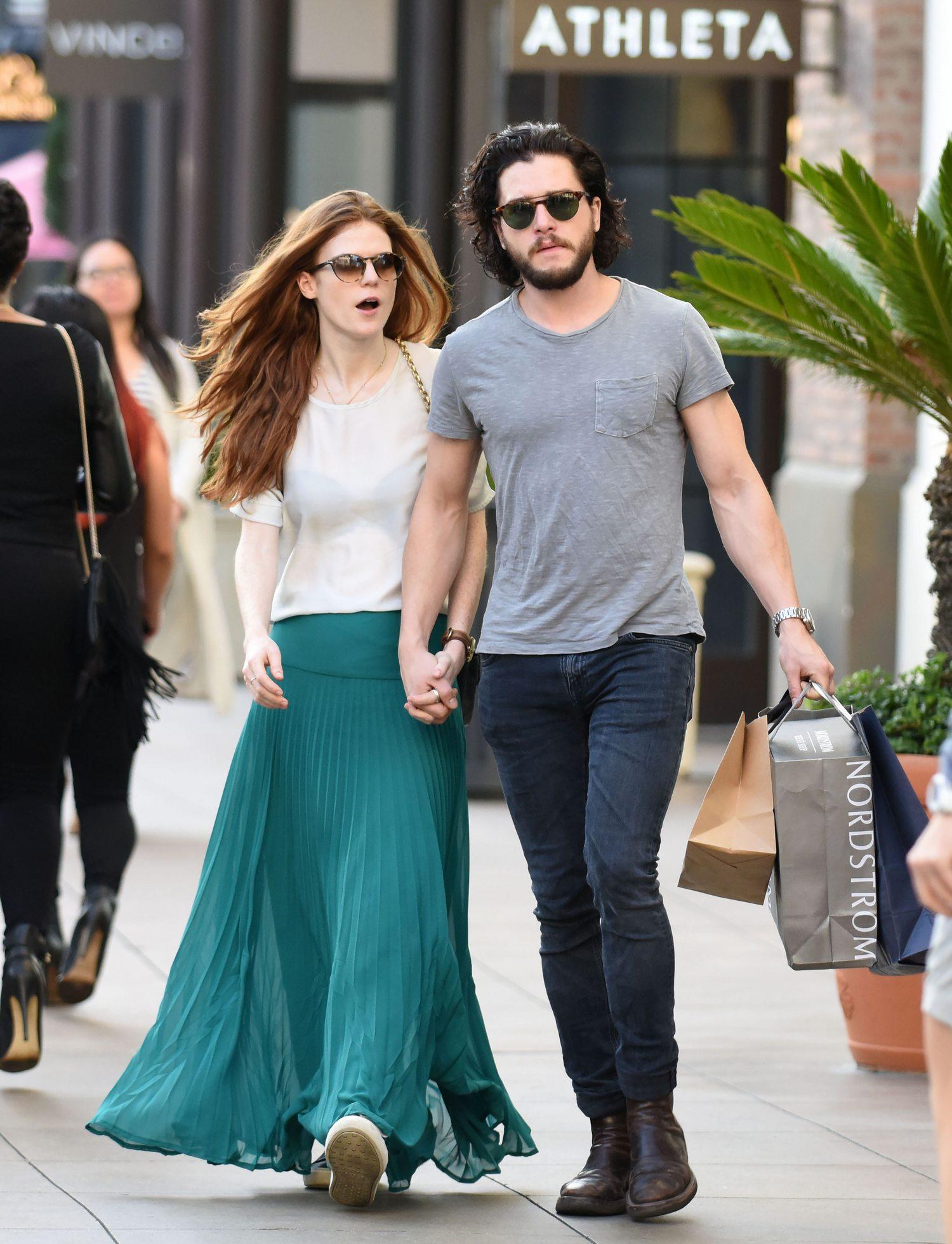 Kit Harington and Rose Leslie Romantic Shopping Spree in LA-1