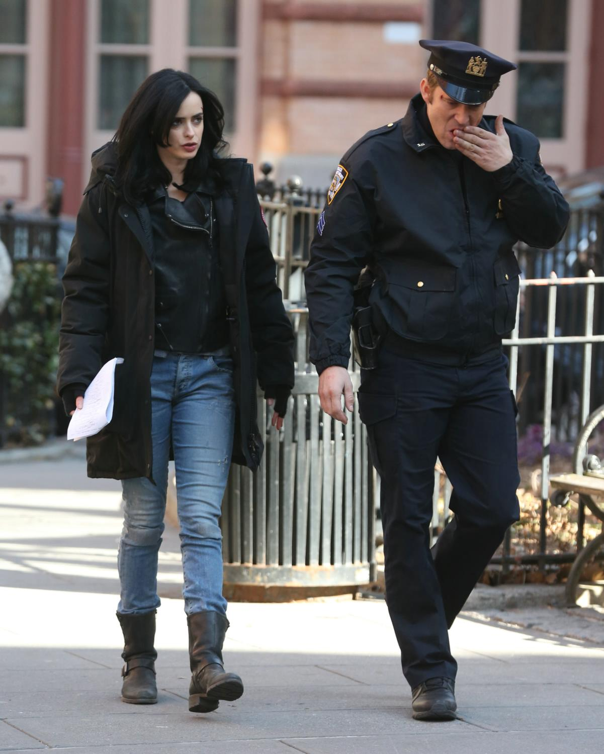 Krysten Ritter Films Jessica Jones in NYC-1
