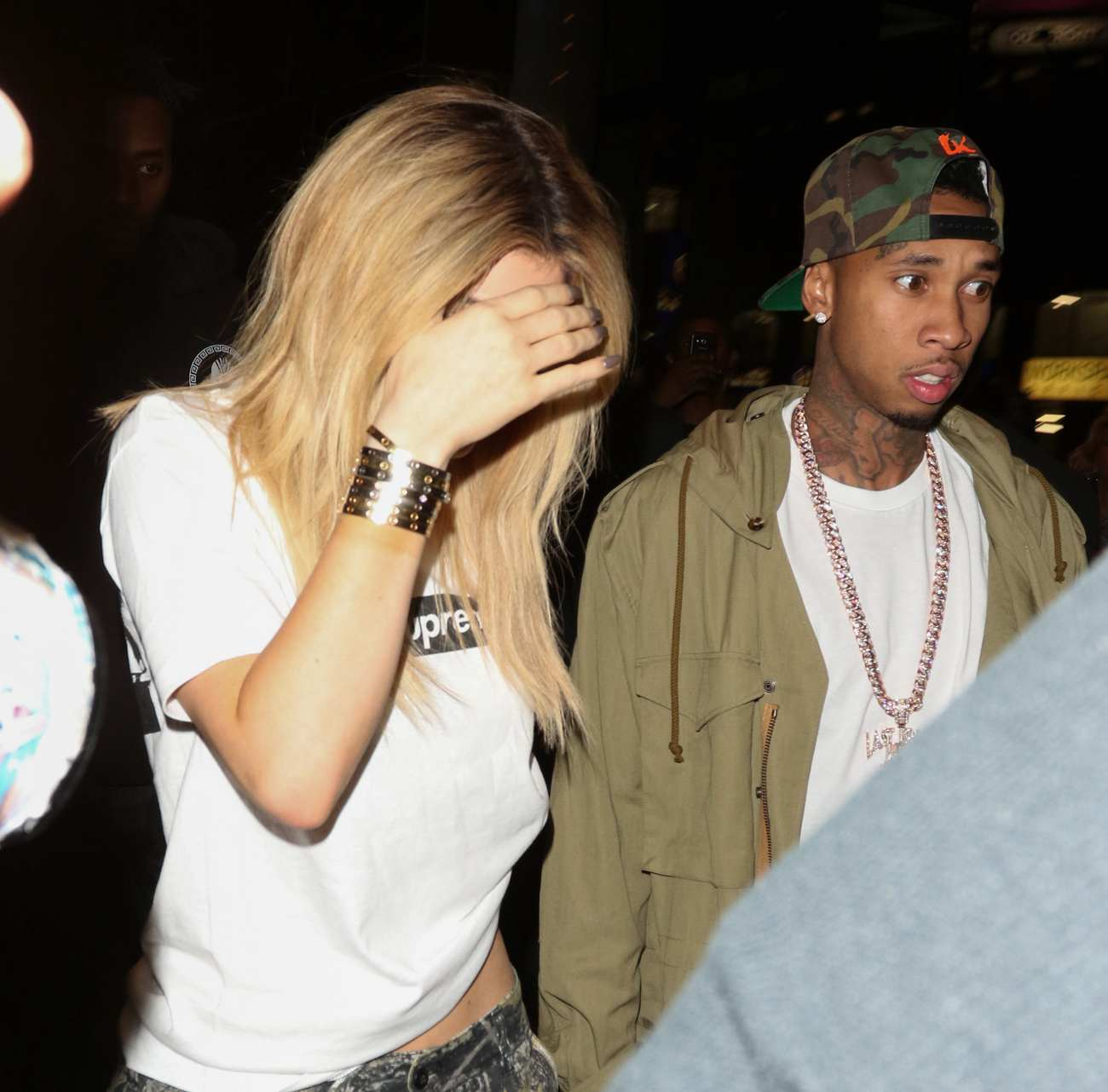 Kylie Jenner and Tyga Arrive at LAX Airport-2