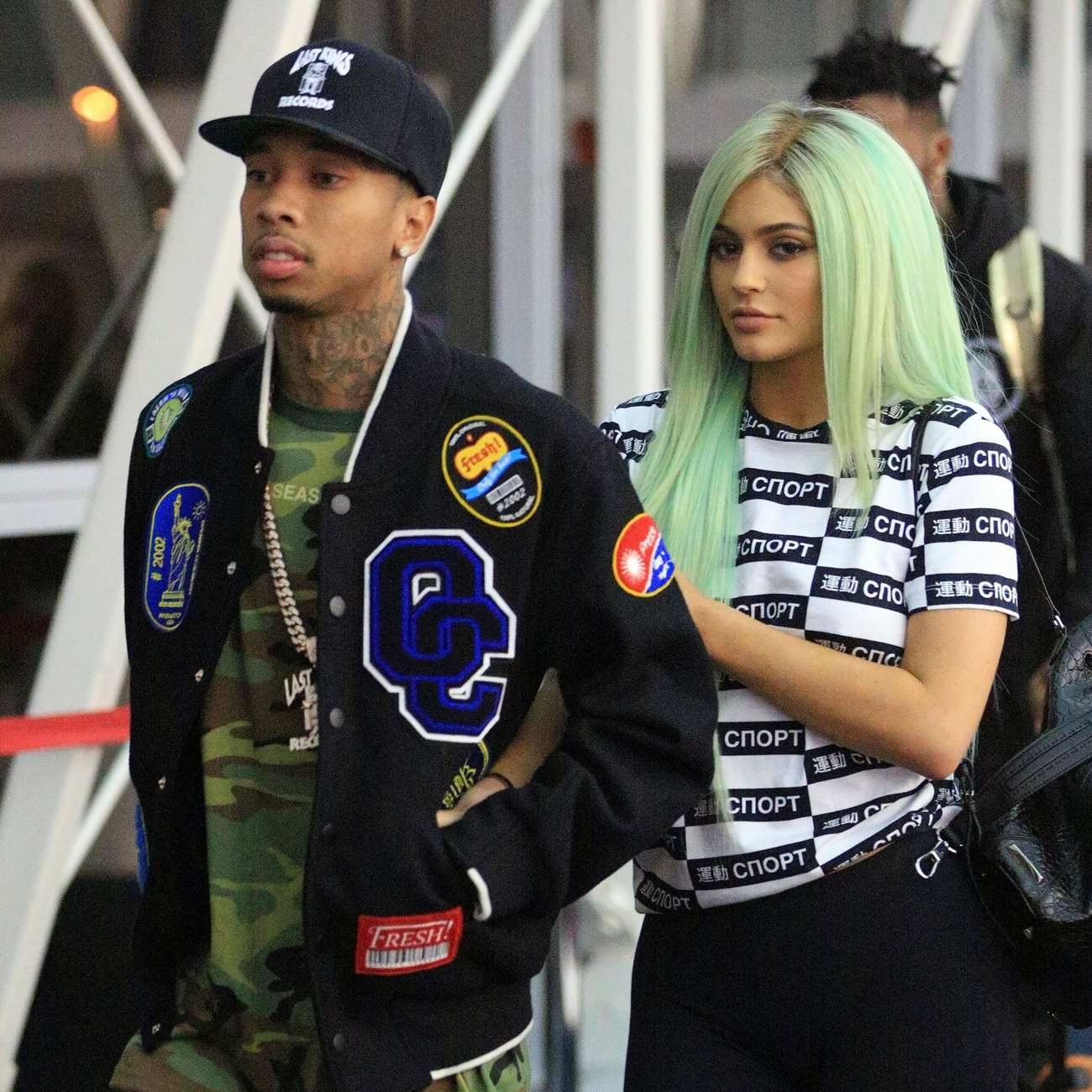 Kylie Jenner and Tyga Arrive at LAX Airport-3