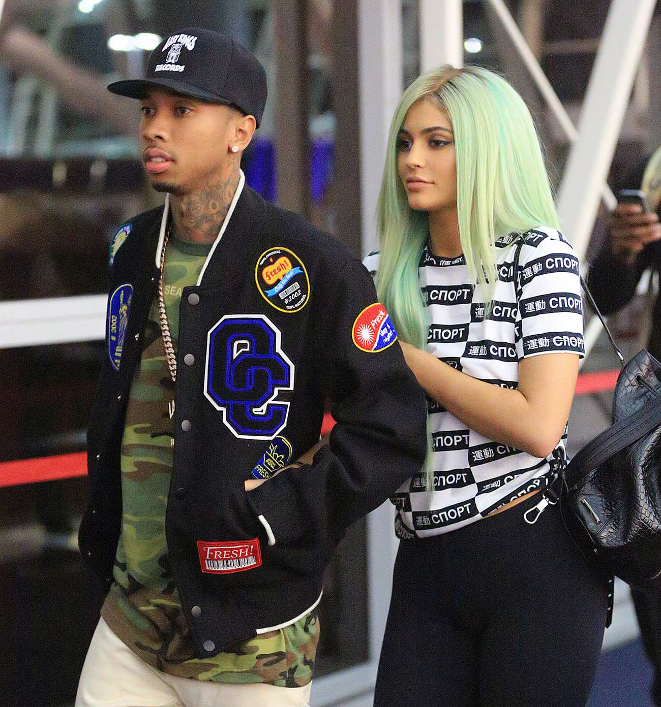 Kylie Jenner and Tyga Arrive at LAX Airport-4