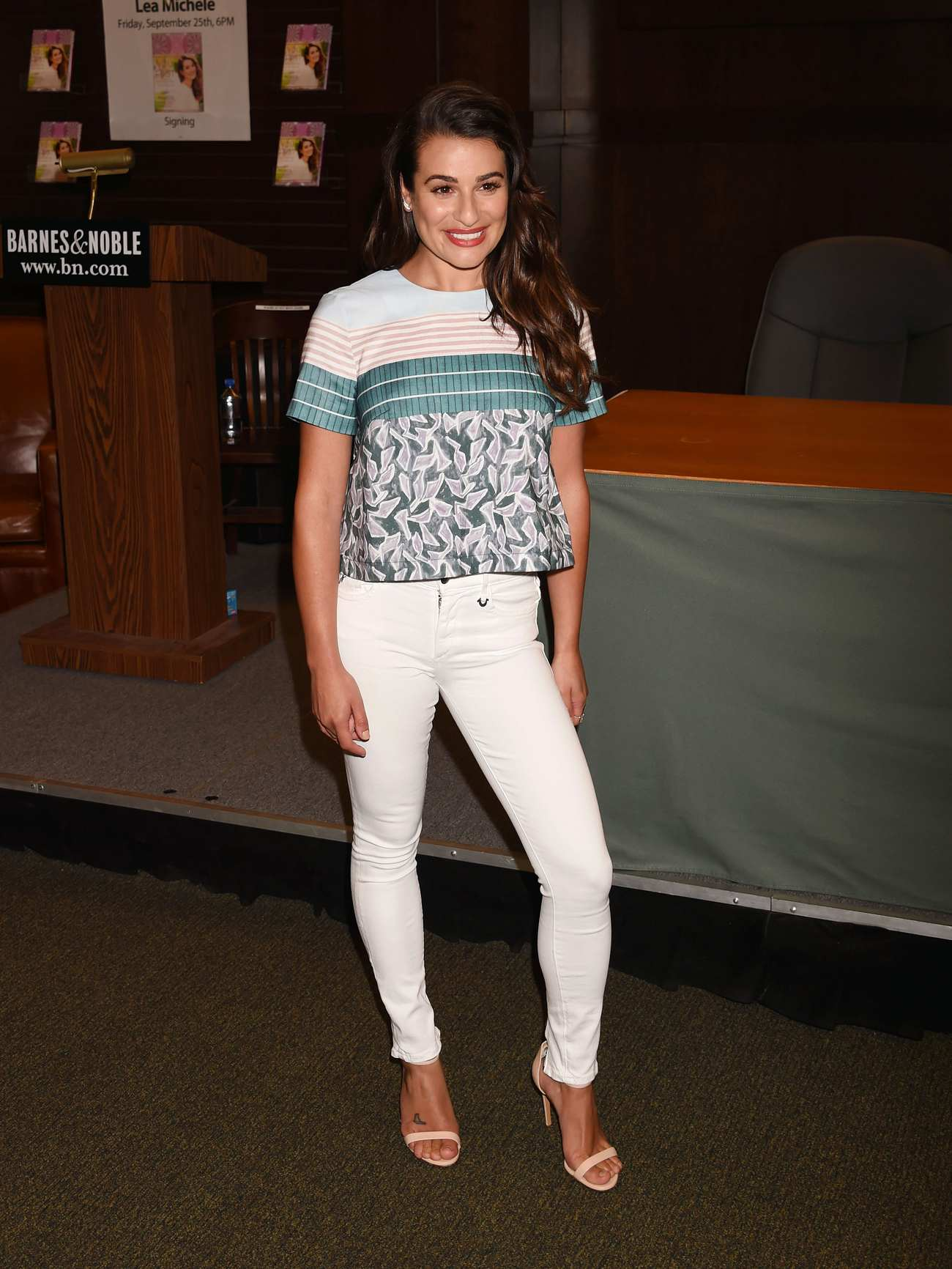 Lea michele signs new book you first journal your way to