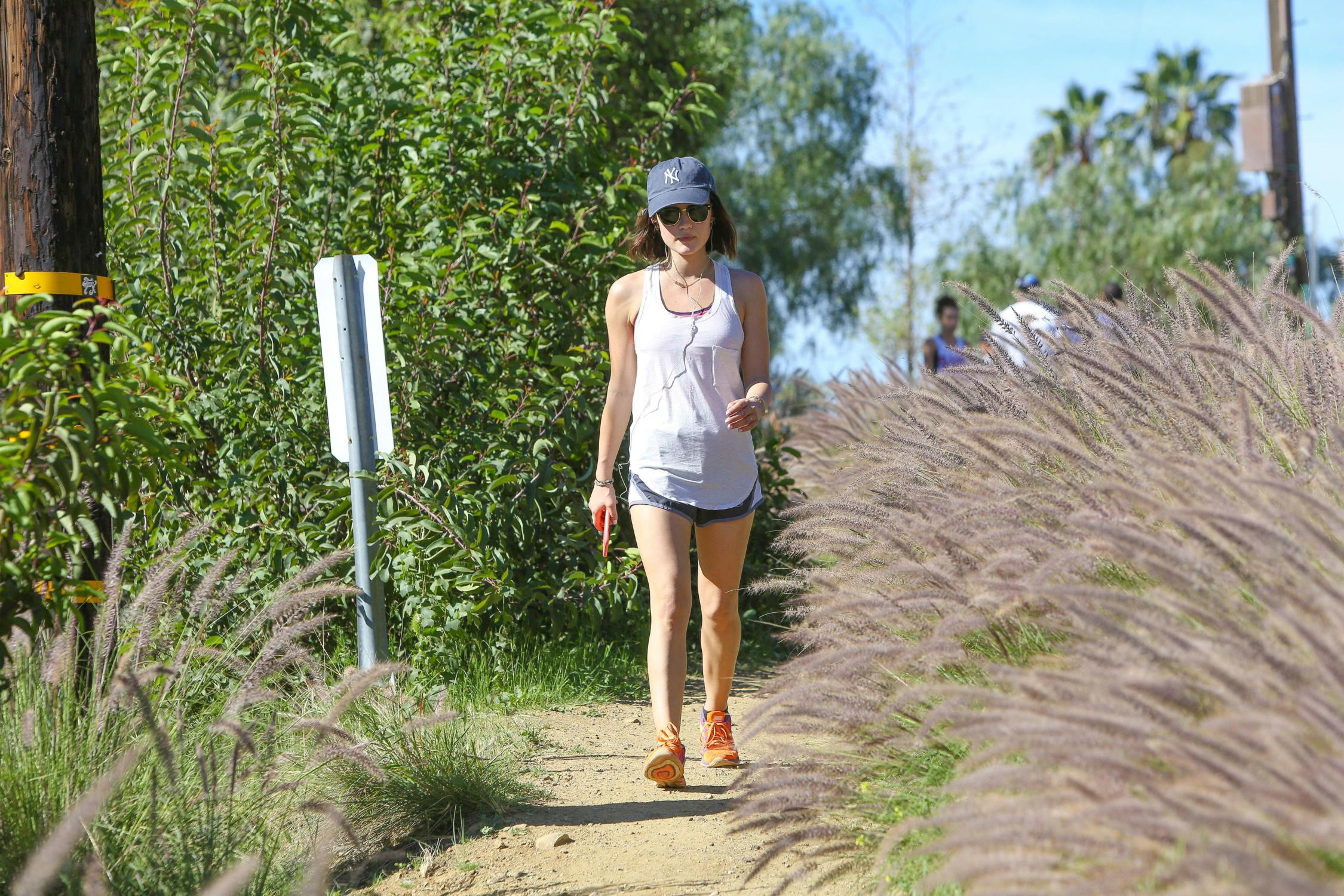 Lucy Hale Goes Hiking at Runyon Canyon Park-4